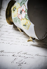 teacup and letter