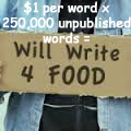 will write for food copy